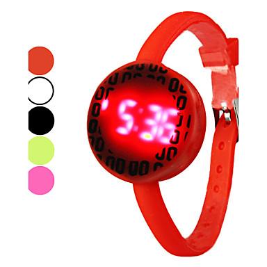 Unisexe Fluorescence bande de silicone numérique LED montre-bracelet (couleurs assorties)