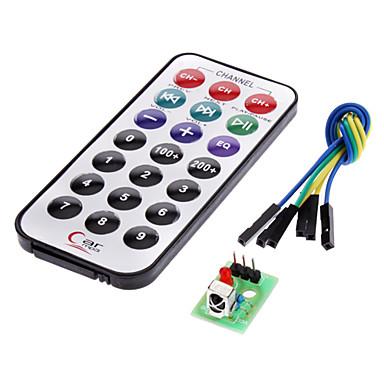 IR-modtager modul kit til trådløs fjernbetjening (til Arduino) (1 x CR2025)