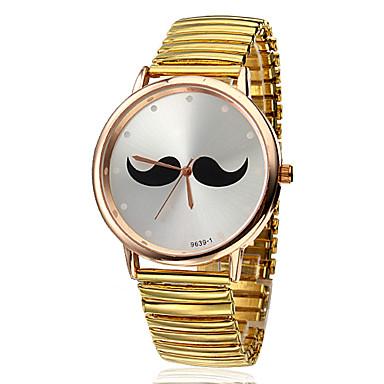 Unisex Alloy Analog Quartz Wrist Watch (Gold Band)