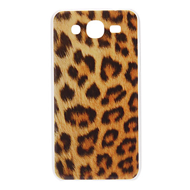 Samsung Galaxy Mega 5.8 I9152 için Brown Leopard Desen Hard Case