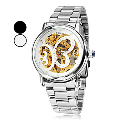 SHENHUA® Women's Butterfly Style Silver Dial Steel Analog Auto-Mechanical Wrist Watch (Assorted Colors) Cool Watches Unique Watches