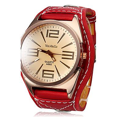 Жен. Кварцевый Наручные часы Нарядные часы Горячая распродажа Кожа Группа Кулоны Красный