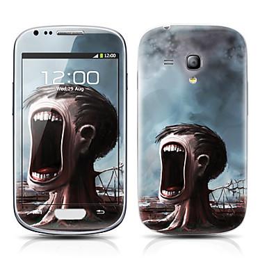 Samsung Galaxy S3 Mini I8190 için canavar Ağaç Desen Ön ve Arka Koruyucu Etiketler