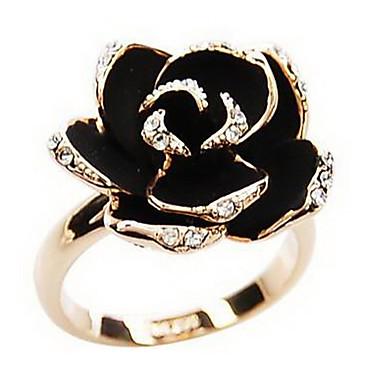 Žene Prsten Izjave Umjetno drago kamenje Legura Roses Cvijet dame Vintage Europska Otvoreno Modno prstenje Jewelry Pink / Zlatan Za Party Dnevno Kauzalni Prilagodljive