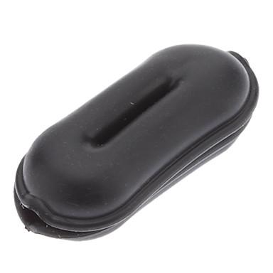 IPod MP3-MP4 için Qirtie Siyah Fıstık Stil Kulaklık Kablo Sarıcı Tel Twister