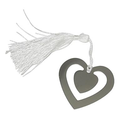 Çift Kalpler Desen Metal Bookmark