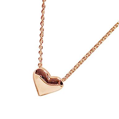 Жен. Ожерелья с подвесками - Сердце, Любовь Мода Золотой Ожерелье Бижутерия Назначение Для вечеринок