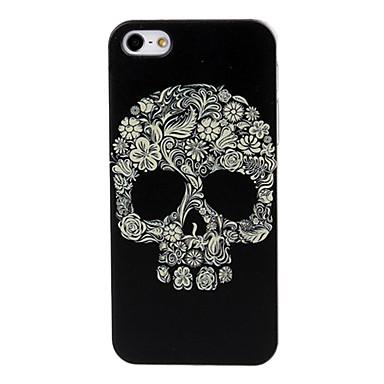 Için iPhone 5 Kılıf Temalı Pouzdro Arka Kılıf Pouzdro Kafatası Sert PC iPhone SE/5s/5