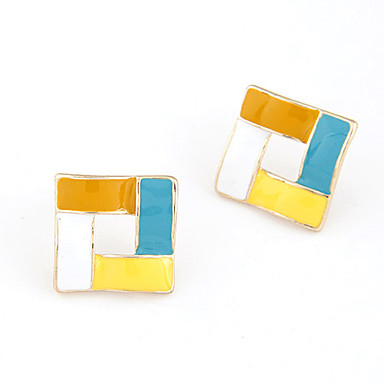 Korean Style Vierkant Rechthoekig Stud Earrings