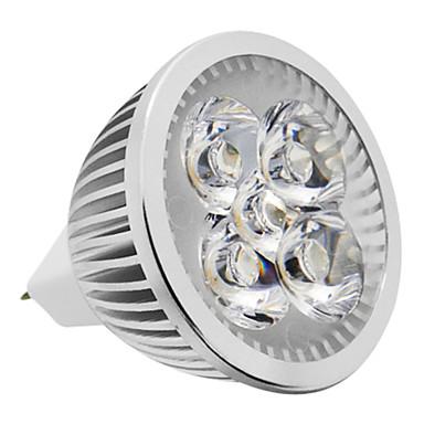 1 adet mr16 (gu5.3) 4w 380-420lm 3000k sıcak beyaz ışık led spot ampul (12v)