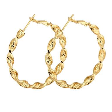 Banhado a ouro de bronze Círculo Brincos de argola ER0465