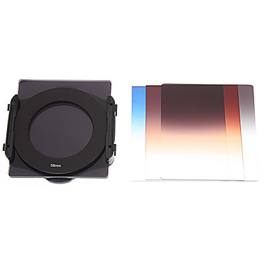 SZSY201301 kademeli Lens Filtreler + ND4 + ND8 + Dağı 58mm Lens Kamera Seti + Yüzük - Siyah (8 ADET)