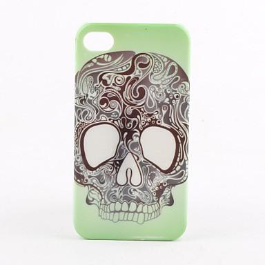 iphone 4 ve 4s (çok renkli) için kafatası kafa desen zor durumda