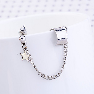 Lureme®Alloy Star Clip Earrings