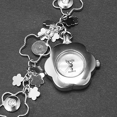 Kadın's Quartz Bant Çiçek bilezik Gümüş