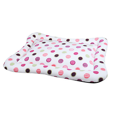 Cozy Colorful Dots Pattern Fleece Warm Mat Bed for Pets Dogs (Assorted Sizes)