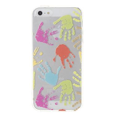 IPhone 5/5S için renkli Palm Desen Şeffaf Koruyucu kılıf