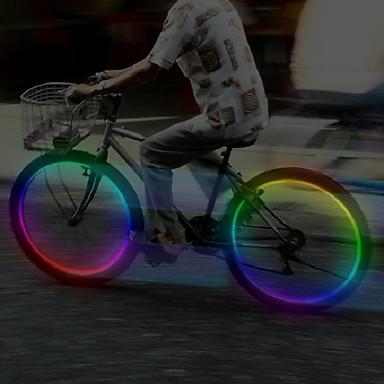 Éclairage pour roues de vélo Capots de feux clignotants LED Cyclisme Piles Lumens Batterie Cyclisme