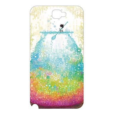 Drift bottles Design Pattern Plastic Back Cover for Samsung NOTE2 N7100