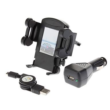 Samsung Galaxy S4 i9500/S3 i9300 Hava Vent Tutucu Dağı + Siyah Araç Şarj Cihazı + Kablosu USB
