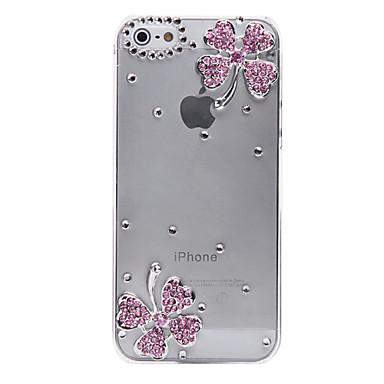 Için iPhone 5 Kılıf Şeffaf / Süslü Pouzdro Arka Kılıf Pouzdro Çiçek Sert PC iPhone SE/5s/5