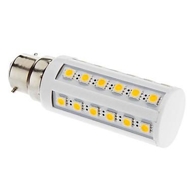 B22 LED Mısır Işıklar T 36 led SMD 5050 Sıcak Beyaz 3000