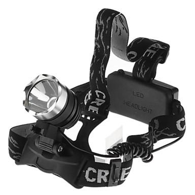 3 Lampes Frontales Phare LED 1600 lm 1 Mode avec Piles Imperméable Camping/Randonnée/Spéléologie Cyclisme Pêche De travail Escalade