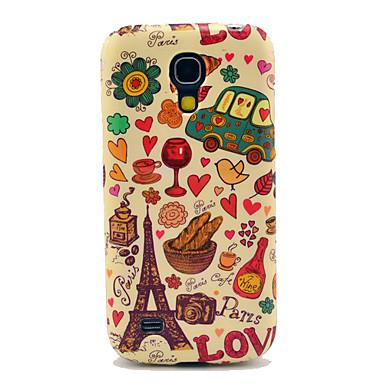 TPU brilhante Torre Eiffel e Pão para Samsung Galaxy S4 mini-I9190 I9195