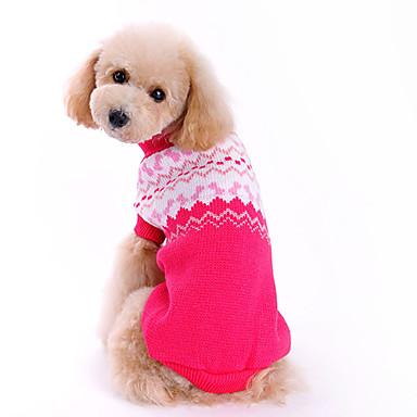 Köpek Kazaklar Köpek Giyimi Fiyonk Düğüm Gül Yün Kostüm Evcil hayvanlar için Erkek / Kadın's Moda