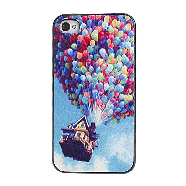 Colorful Balloons Pattern PC Hard Case with Black Frame for iPhone 4/4S