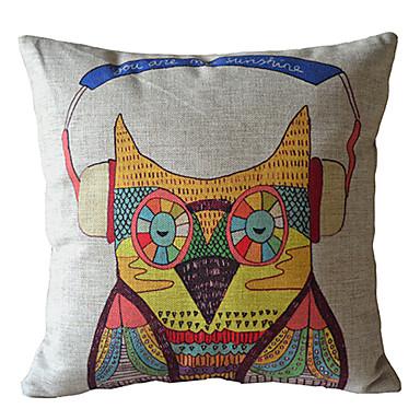 Serin Baykuş Dekoratif Yastık Kılıfı