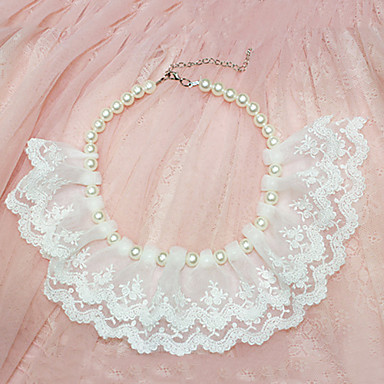 Charming Lace Full Pearl Necklace for Pets Dogs