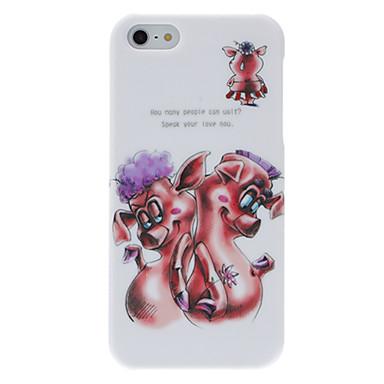 Için iPhone 5 Kılıf Temalı Pouzdro Arka Kılıf Pouzdro Hayvan Sert PC iPhone SE/5s/5
