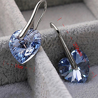 Heart Drop Earrings(Random Color)