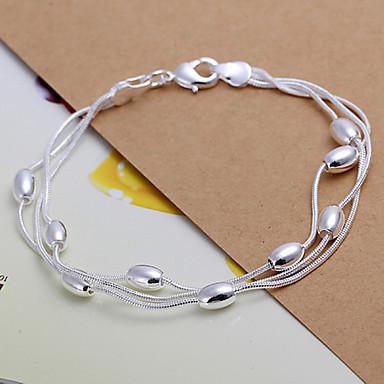 Kadın's Zincir & Halka Bileklikler - Gümüş Kaplama Bilezikler Gümüş Uyumluluk Yılbaşı Hediyeleri / Düğün / Parti
