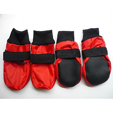 Köpek Ayakkabılar ve Botlar Su Geçirmez Solid Kırmzı / Mavi Evcil hayvanlar için