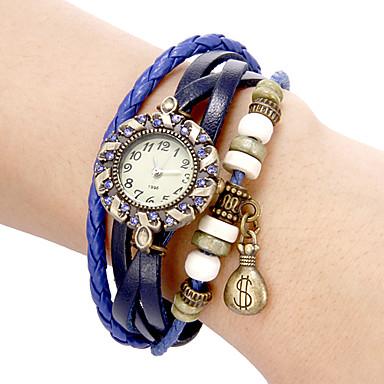 Women's Bracelet Watch Casual Watch Quartz Band Vintage Bohemian Black White Blue Red Orange Brown Green Pink