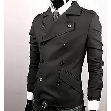 Erkekler'S Şık Çift Breasted İnce Ceket