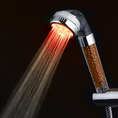 ABS 3-Color Temperature Sensitive LED Color Changing Hand Shower