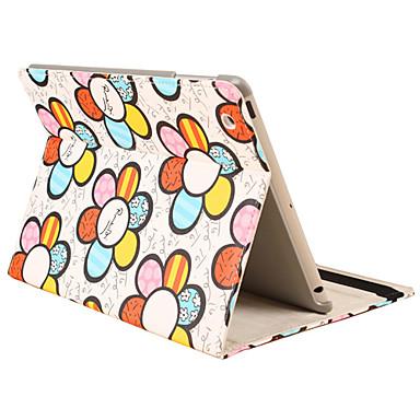 Pouzdro Uyumluluk Apple iPad Mini 3/2/1 Çiçek Çiçek Sert PU Deri için Apple
