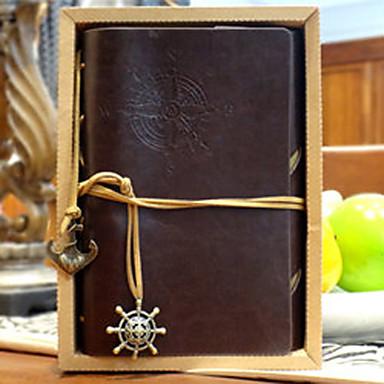 travel notepad vintage pirate สมุดบันทึกสมุดบันทึกกระดาษโน้ตแบบหลวม ๆ 80 หน้ากระดาษคราฟท์สีน้ำตาล