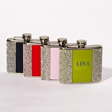 Kişiselleştirilmiş Babalar Günü hediyesi 5oz metal harfler yapay elmas ile şişeyi
