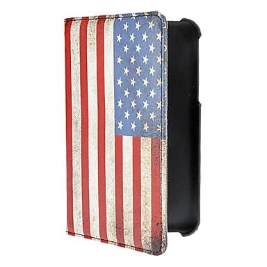 Samsung Galaxy Tab3 P3200 için eski Amerikan Bayrağı Desen PU Deri Tüm Vücut Kılıf