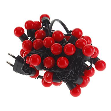 5m Dizili Işıklar 50 LED'ler Kırmızı 220 V