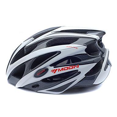 MOON Bisiklet kaskı CE Bisiklet 25 Delikler Dağ Half Shell Dağ Bisikletçiliği Yol Bisikletçiliği Bisiklete biniciliği