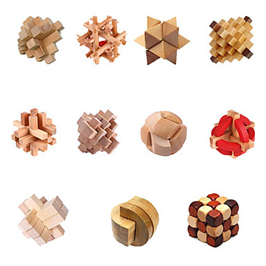 Wooden Puzzles IQ Brain Teaser Puzzles Game IQ Test Lovely Fun Convenient Wood Classic Children's Gift
