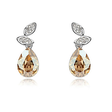 High-Quality Crystal Water Drop Shape Stud Earrings