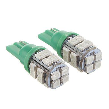 T10 20x3528SMD Зеленый свет Светодиодные лампы для автомобилей (12V, 2 шт)