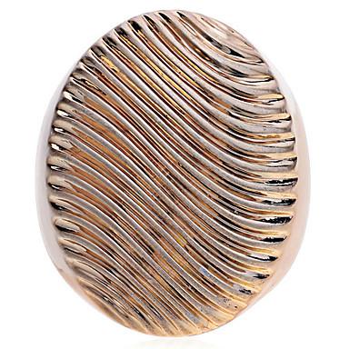 Anéis Pesta / Diário / Casual Jóias Chapeado Dourado Feminino Anéis Statement 1pç,7