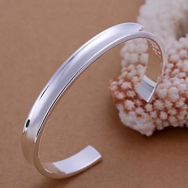 Жен. Браслет цельное кольцо Браслет разомкнутое кольцо - Серебрянное покрытие Браслеты Серебряный Назначение Для вечеринок Повседневные